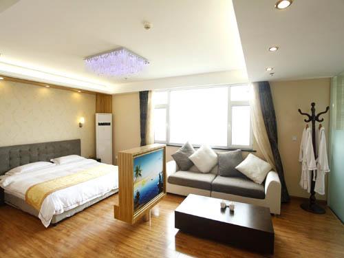 [南戴河宾馆]南戴河嶺澜国际大酒店卧室
